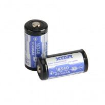 Acumulator Li-Ion 16340 *650 mAh XTAR 3.6V cu protecție