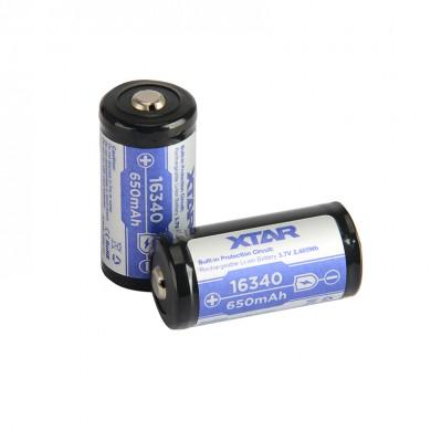 Acumulator Li-Ion 16340 XTAR 3.6V cu protecție