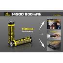 XTAR 14500 800 mAh Acumulator Li-Ion cu protectie