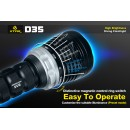 XTAR D35 Lanternă LED Subacvatică Set Complet