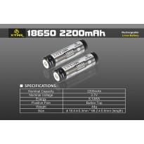 Acumulator Li-Ion 18650 XTAR 2200 mAh 3.7V Cu Protectie