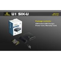 XTAR Încărcător SIX- U1 6 porturi USB 45 W
